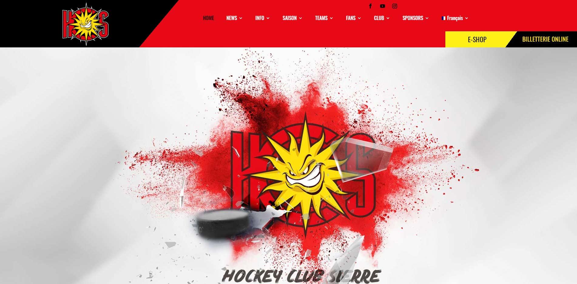 homepage HC Sierre