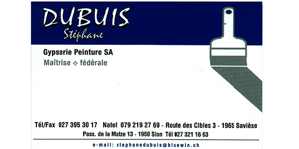 Logo Stéphane Dubuis Peinture SA