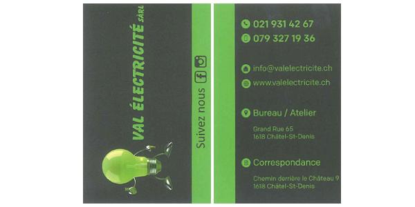 Logo Val Electricité Sàrl