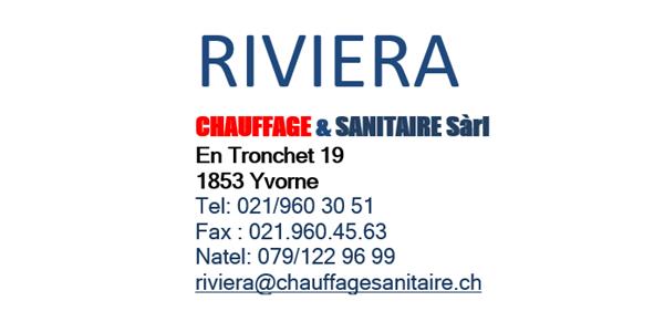 Logo Riviera Chauffage & Sanitaries Sàrl
