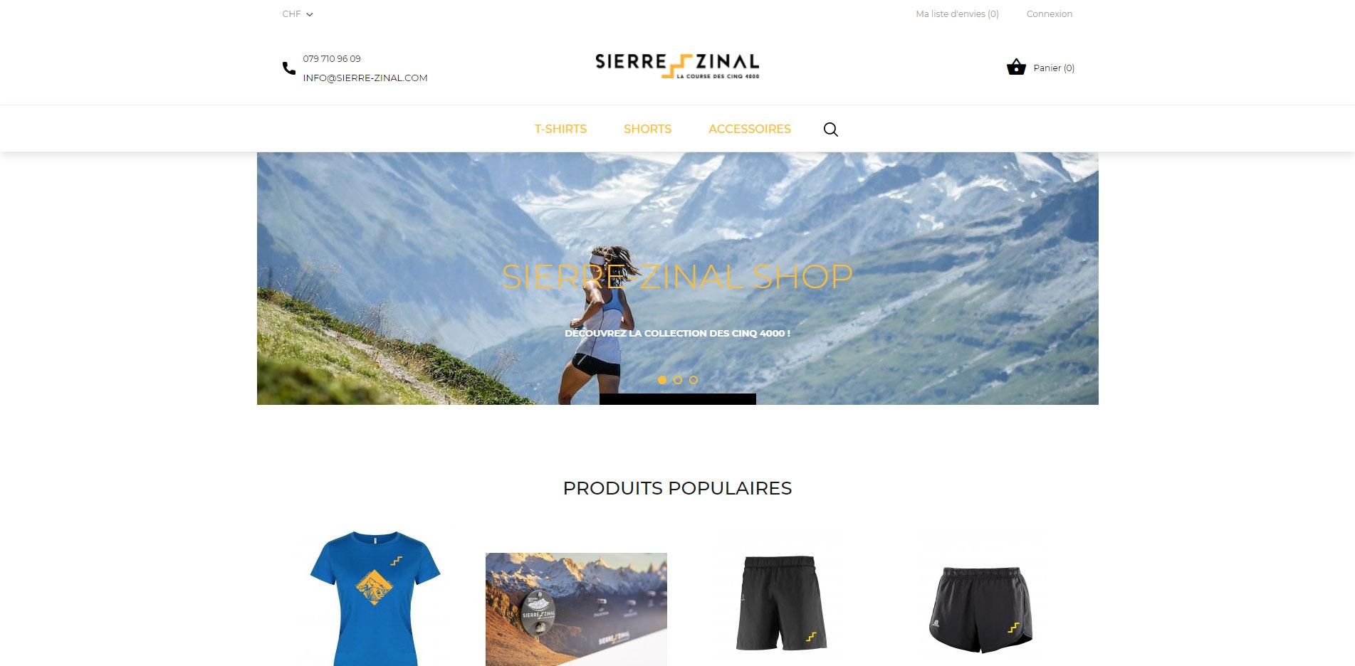 Sierre-Zinal shop