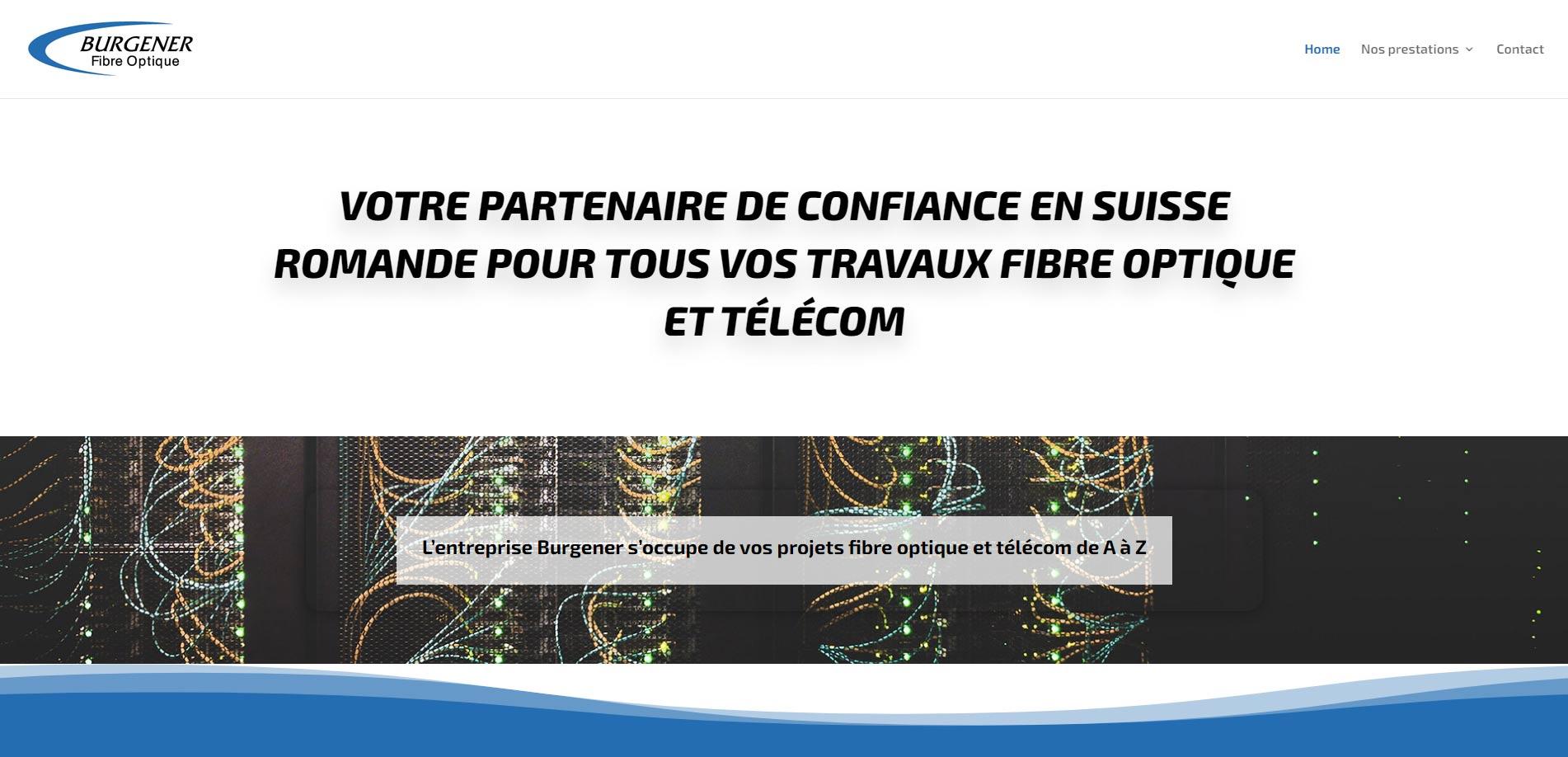 Burgener Fibre Optique homepage website