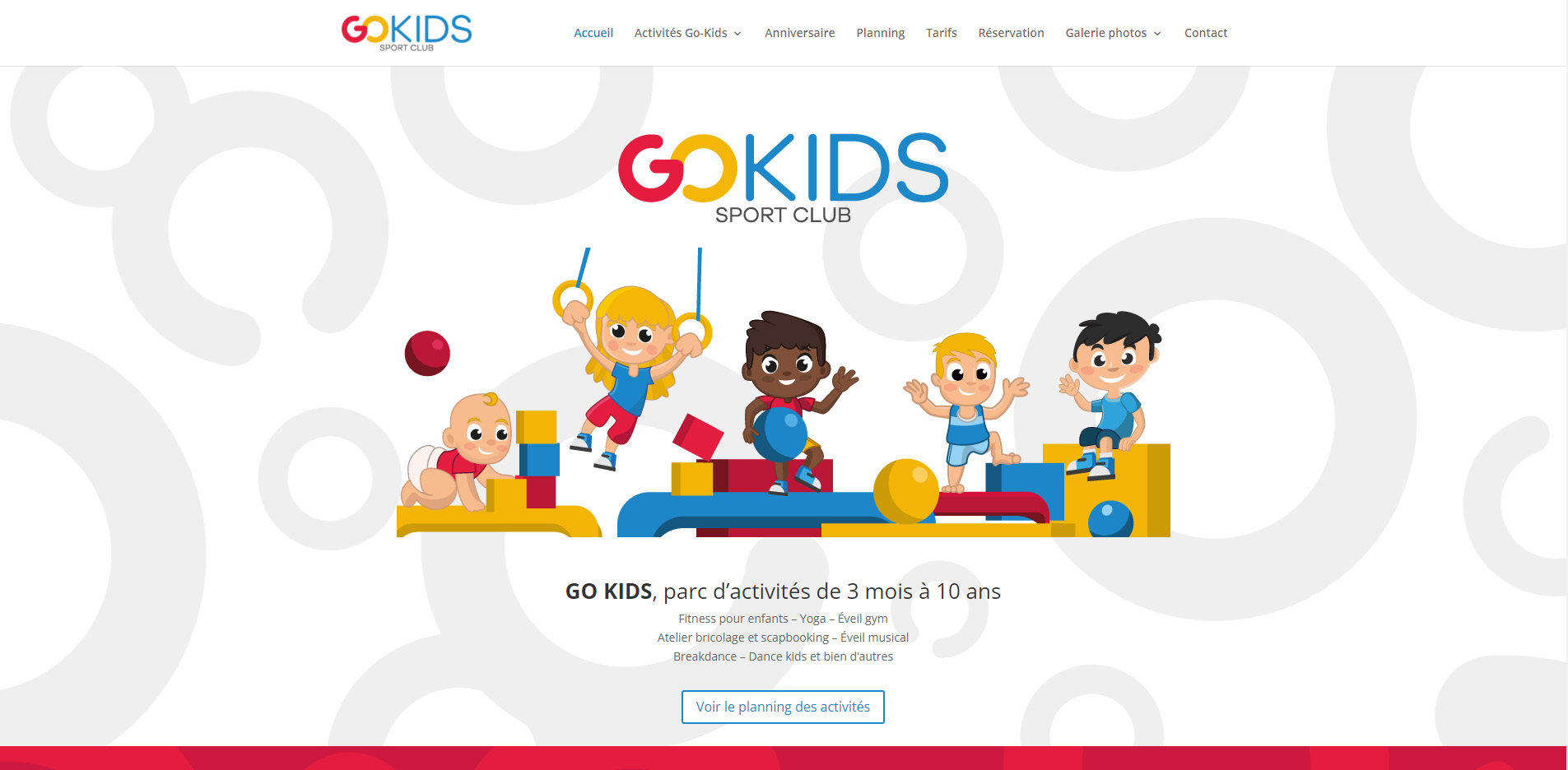 Go Kids Sion website homepage