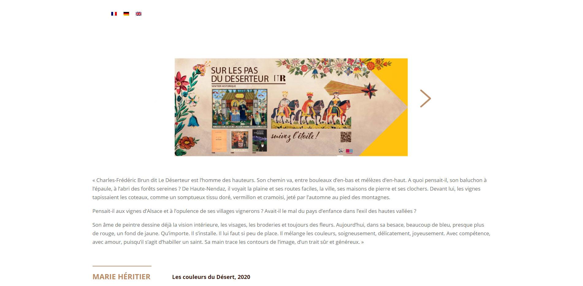 Sentier Déserteur homepage website